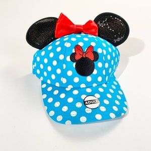 Disney Minnie Mouse blue polka dot ball cap